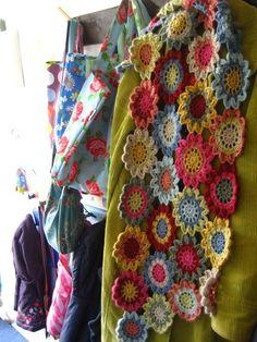 Beautiful Crochet Flowered Scarf!