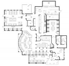 Restaurant Layout, Blueprints and AutoCads