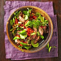 Grilled Steak and Watercress Salad with White Beans