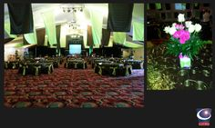 Green and Brown Ceiling Treatment Designed and Built by Sixth Star Entertainment. www.sixthstarentertainment.com