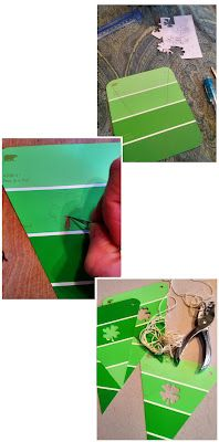 Quick & free St. Patrick's Day banner paint card craft