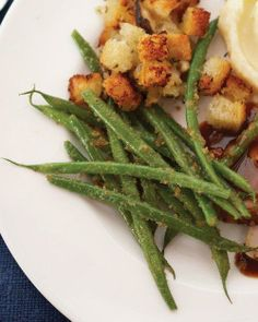 Green Beans with Shallots and Breadcrumbs Recipe