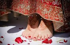 red toenails, such a delight!