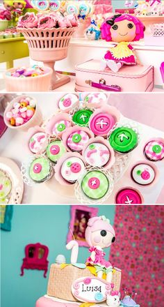 LalaLoopsy themed birthday party via Karas Party IDeas karaspartyideas.com #lala #loopsy #party #themed #ideas #cake #idea