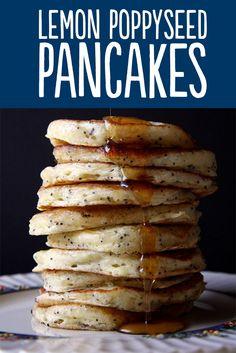 seed pancak, lemons, poppi seed, food, vanilla extract, pancakes, pancake recipes, maple syrup, lemon poppi