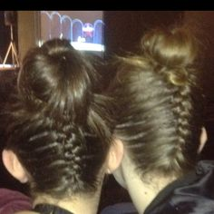 Hair for dance competition!