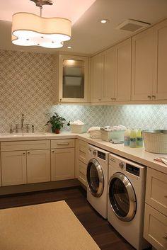 laundry room - love the walls