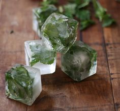 Mint Infused Ice Cubes (....for Mojitos etc.)