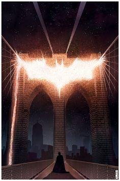 Batman minimalist poster cake, matt ferguson, knights, comic, the bridge, art, batman, dark knight, posters
