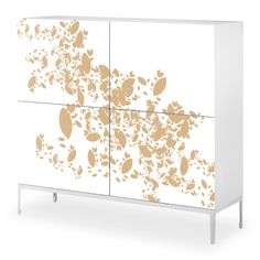 Customize Ikea Furniture! ...Autumn Leafs Decal - for Norrsten Dresser