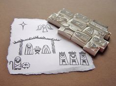 Nativity Create your own stamps #undefined #handmade