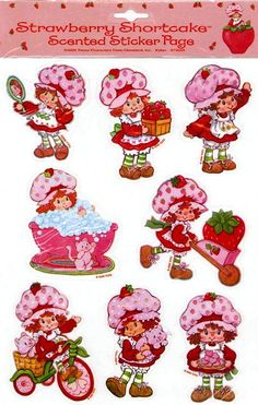 Strawberry Shortcake stickers