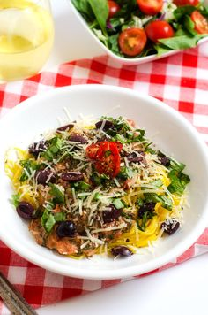 Linguine with Spicy Tomato Cream Sauce, Olives and Basil - Gluten Free, Vegetarian, 8 WW Points | www.mamabalance.com