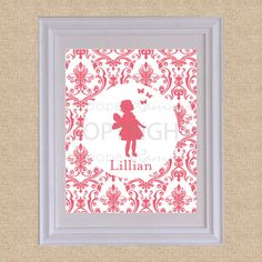 Personalized Silhouette Print  Style My Name Damask  by PaperRamma, $20.00