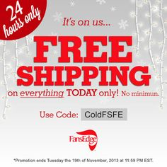 Today Only – Free Shipping at FansEdge with the code ColdFSF www.fansedge.com/source/sclfe12-pnt-111913-freeship