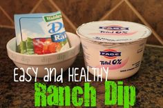 Ranch dip using Greek yogurt - tastes just like sour cream!
