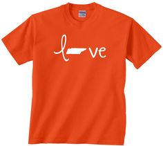 Love Tennessee t shirt. Stylish design to support your hometown state where ever you may go. Awesome shirt to wear on your vacation.