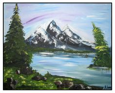 Mountain Scene paint