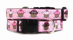 If I had a dog, and she was a girl, I'd buy her this cupcake collar. $34.