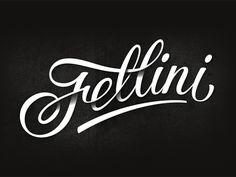 Fellini cafe Logo Inspiration Gallery | More logos http://blog.logoswish.com/category/logo-inspiration-gallery/ #logo #design #inspiration #typography