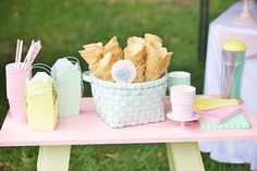 Pastel ice cream shoppe party