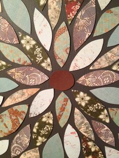 Scrapbook flower art