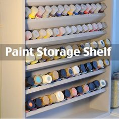 An easy project that will keep your paints organized for good!
