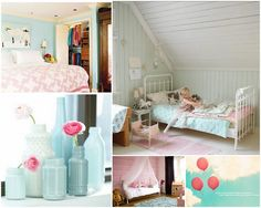 pink & blue girls room