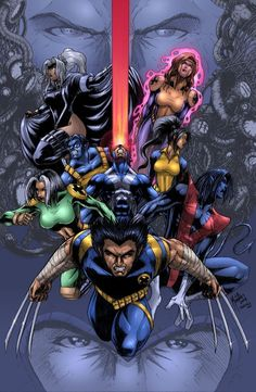 #X-Men #Fan #Art. (X-men COLORED) By: Werder.