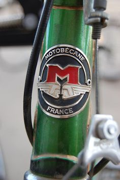 Motobecane Head Badge by subtlet, via Flickr