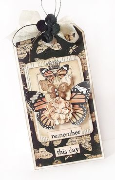 tags, remember this, karola witczak, butterflies, color, atc, butterfli tag, cards, tag food