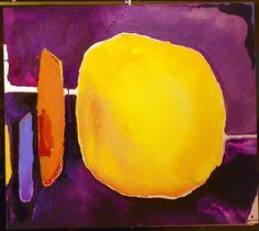 """""""Le ciel est bleu comme une orange """"illustration de Frankenthaler"""