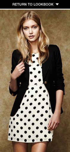 Polka dot dress? Yes, please!