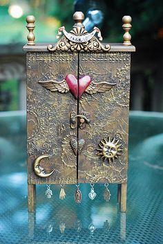 shrine, alter art, sacr heart, mini treasur