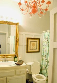 $100 Chic Bathroom Makeover | Vintage Romance featured on Remodelaholic.com #budget #style #board_and_batten