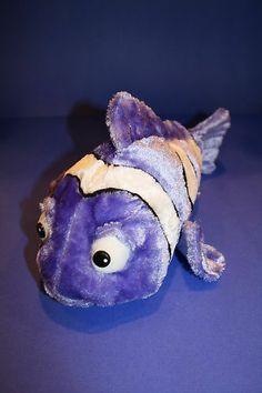 "16"" The Petting Zoo Plush Purple/White/Black Striped Fish Stuffed Animal Toy  #ThePettingZoo"