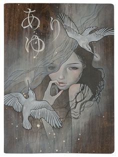 Audrey Kawasaki =amazing. I admire the delicacy and femininity in her work!!
