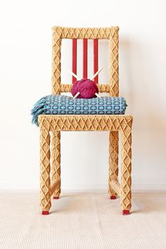 Yellow Accent Chair Home Office Chair Upcycled by KnitsForLife, $500.00