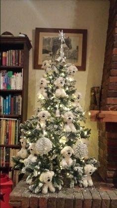 old english sheepdog Christmas tree....