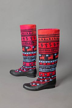 tribe boot, fashion shoes, snow boots, style, etsi, neon tribe, colors, blues, rain