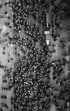 Margaret Bourke-White - Hats in the Garment District, New York, 1930 | birds eye view | black & white | www.republicofyou.com.au