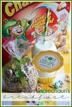 St. Patrick's Day Breakfast & Free Printable... So cute!