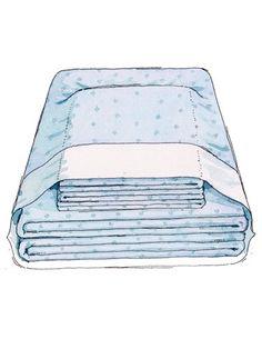 Linen cupboard organising idea - keep sheet set inside a pillow case.