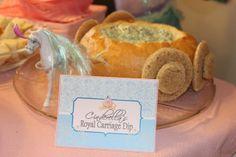 Cinderella's Royal Carriage Dip at a Princess Party #princessparty #dip