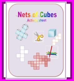 Here are some cutting, folding, writing, and coloring activity sheets for all of the possible nets of cubes....
