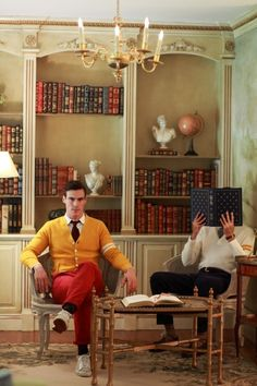 men styles, libraries, sons, stylish clothes, read books, men fashion, men suits, men clothes, red pants