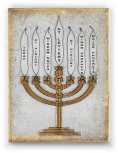 Sid Dickens Menorah to purchase call NCH Galleries at (951)734-5989