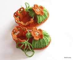 Baby summer sandalscrocheted bab girls  sandals  by MiaPiccina, $16.00