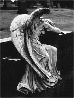 weep angel, griev angel, art, stone, beauti