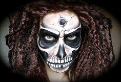 Scary/Creepy Skull Makeup Tutorial
